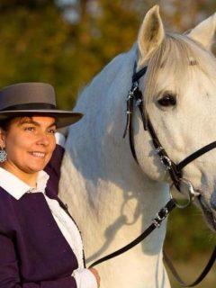 Gudrun Grommeck mit Pferd